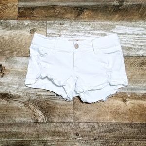 Hollister White Low Rise Short Shorts